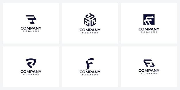 Pomysły na logo kolekcja monogram litery f f