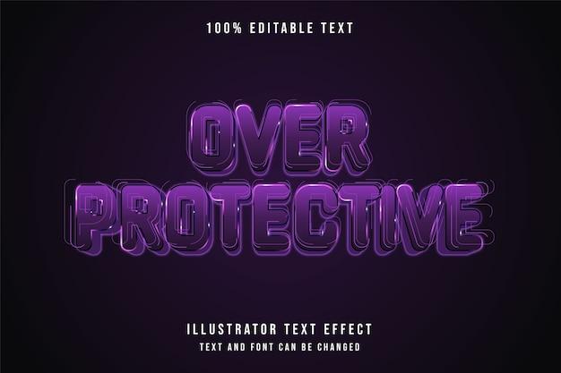 Ponad ochronny, edytowalny efekt 3d w futurystycznym stylu fioletowej gradacji