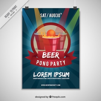 Pong party plakat