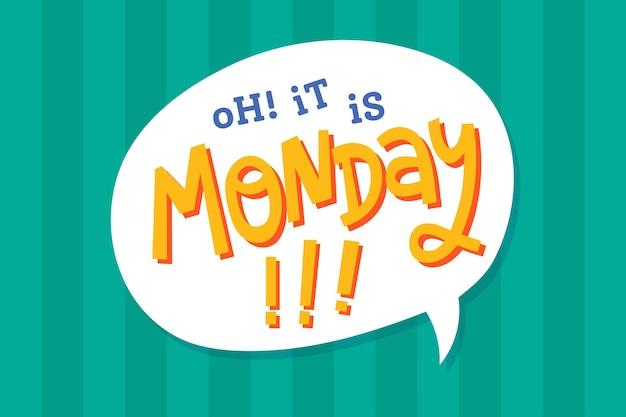 Poniedziałek jest znowu w tle