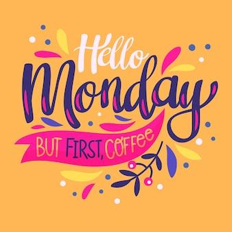 Poniedziałek - napis