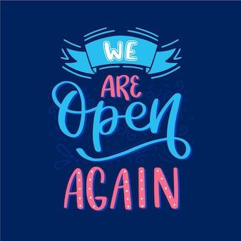 Ponowne otwarcie napisów w sklepach