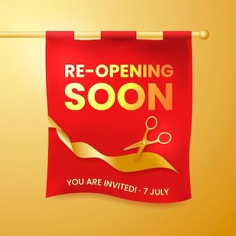 Ponowne otwarcie wkrótce koncepcji baneru