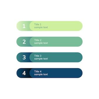 Ponumerowane listy wektor elementów biznesowych