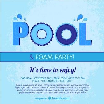 Pool party plakat szablon