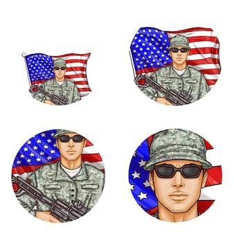 Pop art awatar, ikony profilu dla użytkowników portali społecznościowych, blogi