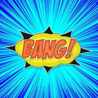 Pop art bomb bang