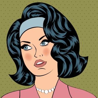 Pop-art ilustracja dziewczyny