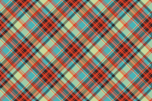 Pop-art kolor kratka piksel bez szwu tkanina tekstura