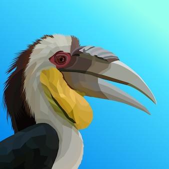 Pop art kolorowy ptak