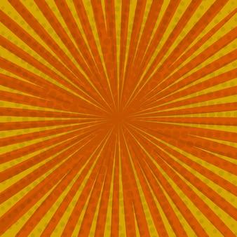 Pop art retro komiks tło, kolor żółty, kropki rastra pioruna.