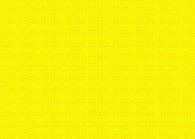 Pop-art żółty kolor tła w kreskówce półtonów