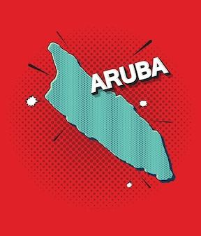 Pop-artowa mapa aruby