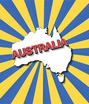 Pop-artowa mapa australii