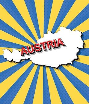 Pop-artowa mapa austrii