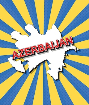 Pop-artowa mapa azerbejdżanu