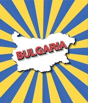 Pop-artowa mapa bułgarii