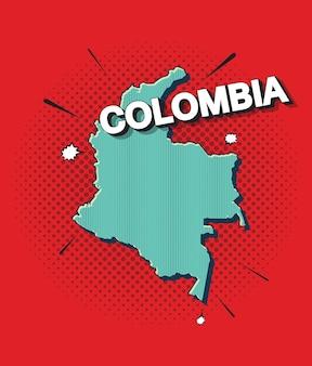 Pop-artowa mapa kolumbii