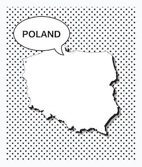 Pop-artowa Mapa Polski Premium Wektorów