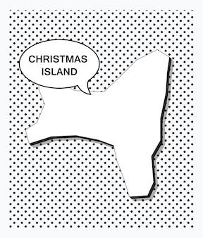 Pop-artowa mapa wyspy bożego narodzenia