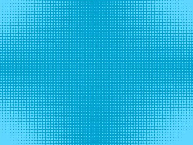 Pop-artowe tło komiksowe półtony niebieskie kropkowane