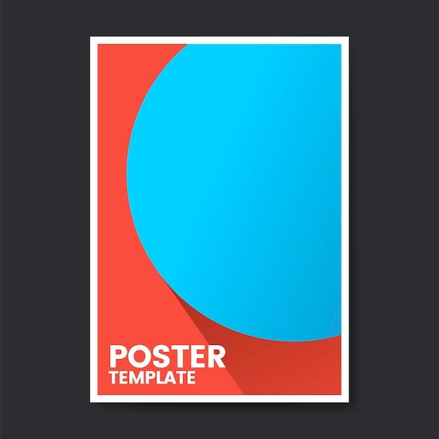 Pop-artu kolor szablonu projektu plakatu