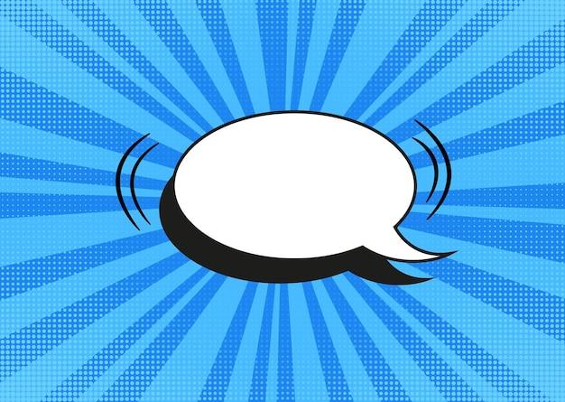 Pop-artu półtonów tło. komiks starburst wzór. niebieski transparent kreskówka. dwutonowa tekstura