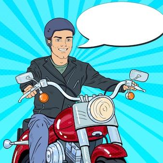 Pop-artu, rowerzysta, jazda na chopperze