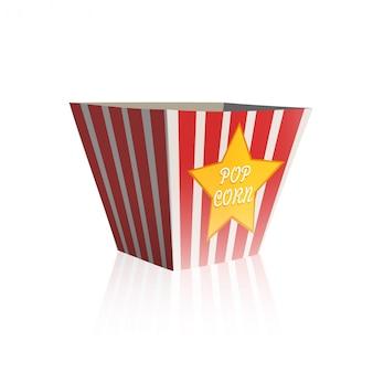 Pop corn box nad białym