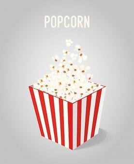 Popcorn w pudełku w paski