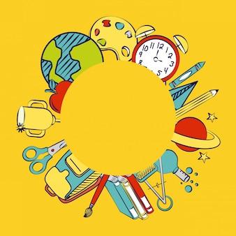 Popiera szkoły i szkoły elementy ilustracyjni