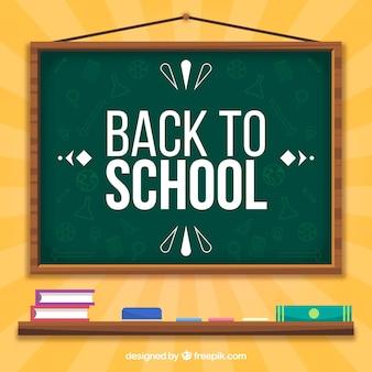 Popiera szkoły tło z blackboard