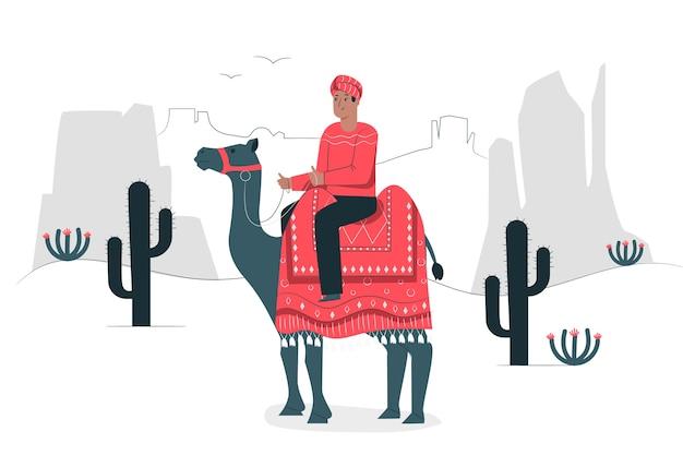 Poprzez koncepcję ilustracji pustyni