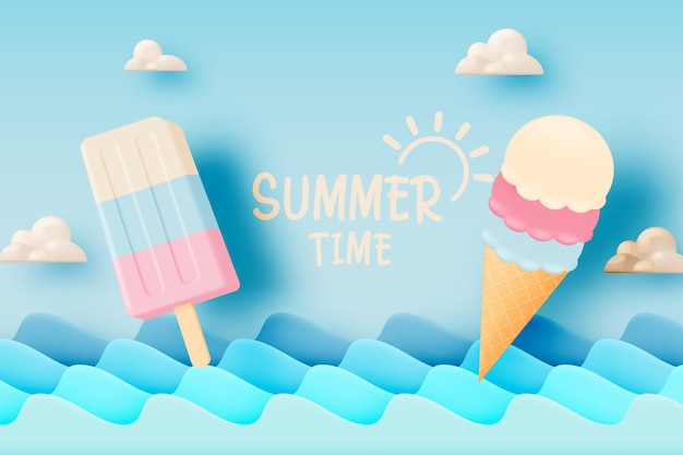 Popsicle i lody na sezon letni
