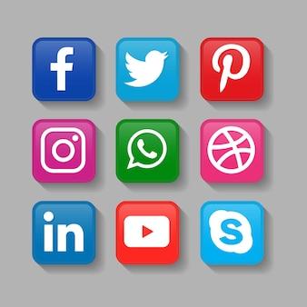 Popularne ikony mediów społecznościowych