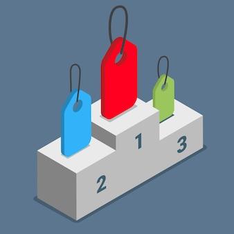 Popularne tagi etykiety tematów tematów koncepcja podium na cokole.