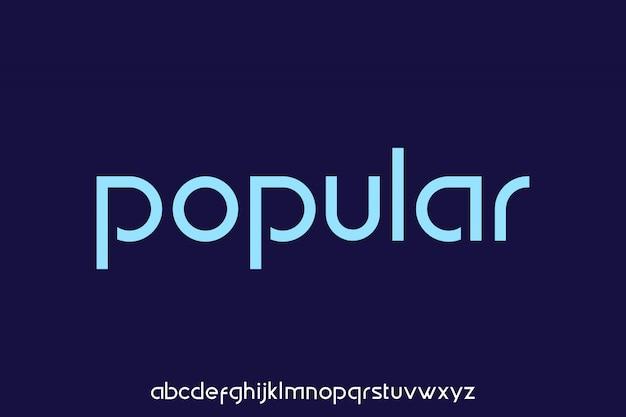 Popularny, luksusowy i nowoczesny alfabet czcionki