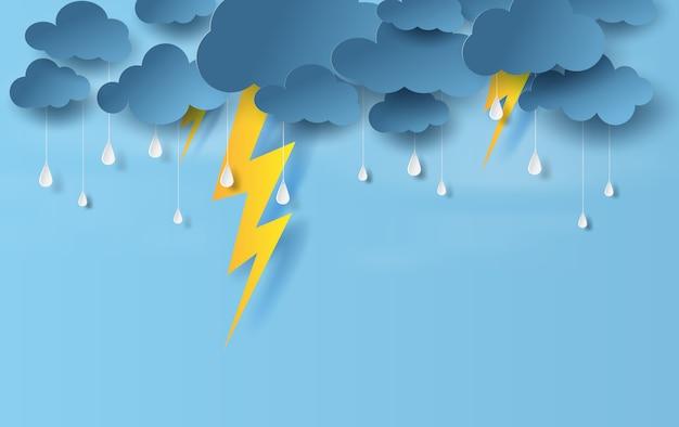 Pora deszczowa w burzy z piorunami