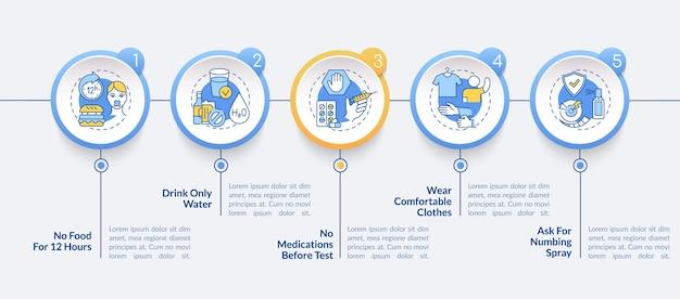 Porady dotyczące badań krwi infografika szablon ilustracji