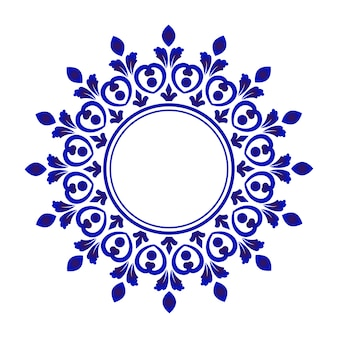 Porcelanowa ramka ozdobna