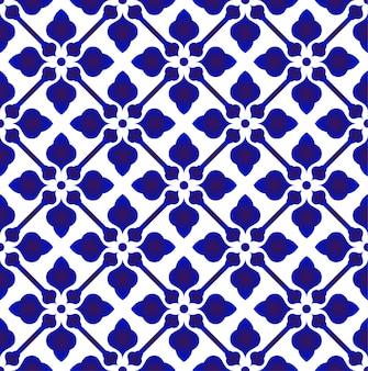 Porcelanowy wzór chiny, ceramika chińska niebiesko-biała nowoczesny design, indygo tapeta, bez szwu chinaware