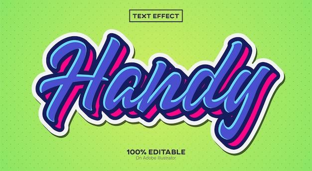 Poręczny efekt tekstowy naklejki