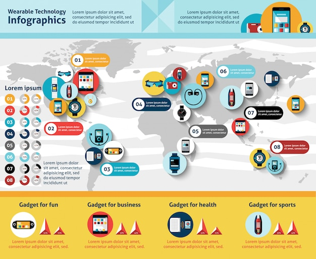 Poręczny infografiki technologii