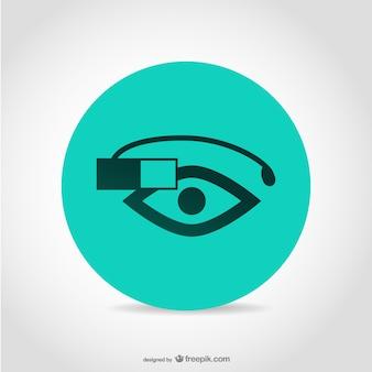 Poręczny technologia google okulary
