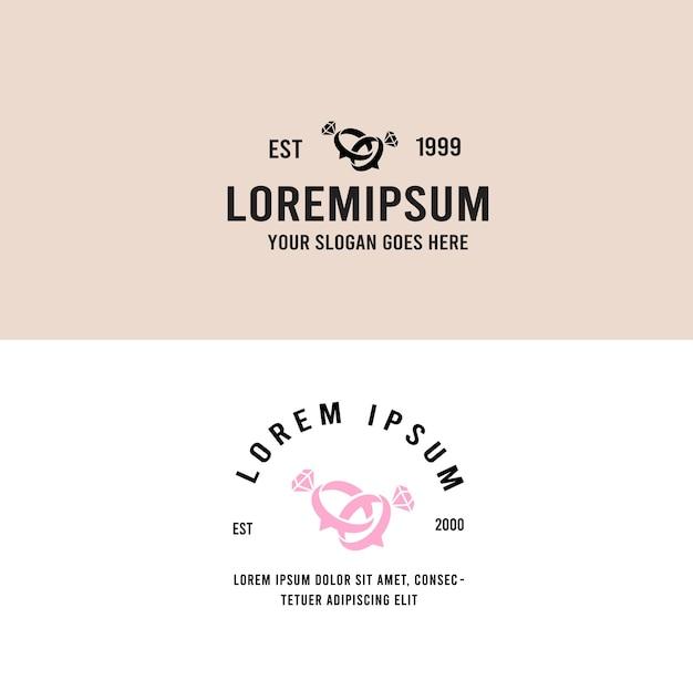 Porozmawiaj o logo ślubu w stylu vintage