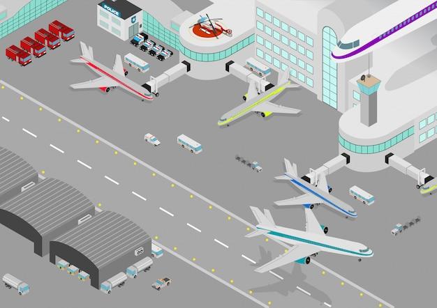 Port lotniczy izometryczny