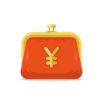 Portmonetka z symbolem jena