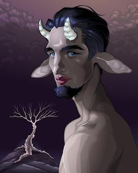 Portret fauna. ilustracja wektorowa