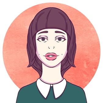 Portret młoda cutie dziewczyna