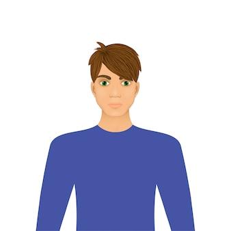Portret młodego człowieka ilustracji